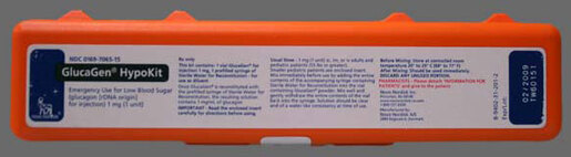 GlucaGen<sup>&reg;</sup> HypoKit Emergency Kit, 1mg/mL, 1mL Single-dose Vial