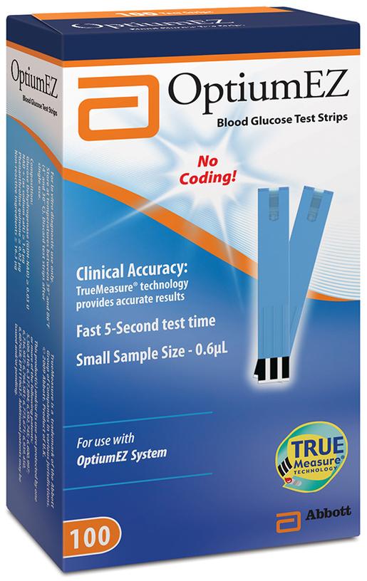 Abbott OptiumEZ Blood Glucose Test Strips