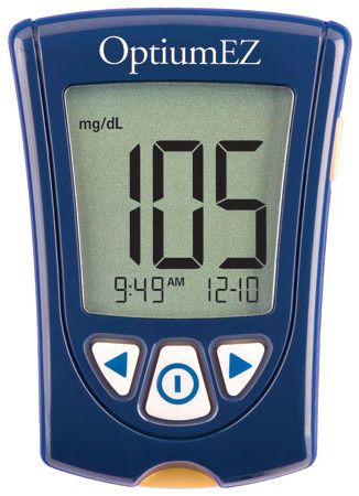 Abbott Optium EZ Blood Glucose Meter Monitoring System