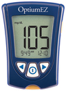 Abbott Optium EZ Blood Glucose Meter Monitoring System