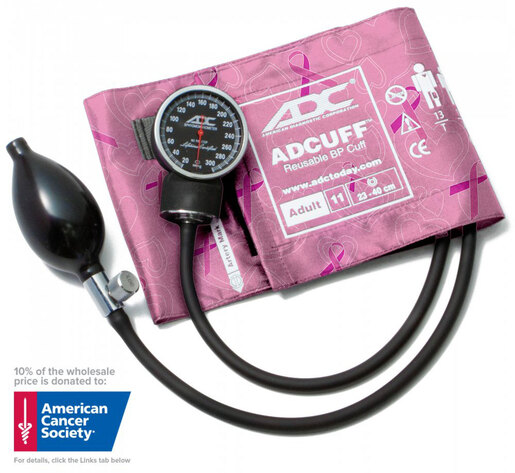ADC<sup>®</sup> Diagnostix<sup>™</sup> 720 Pocket Blood Pressure Cuff/Aneroid Sphyg, Breast Cancer Awareness Edition, Adult
