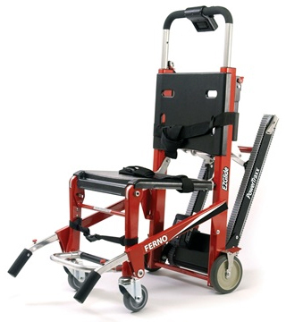 Ferno Model 59-T EZ-Glide<sup>®</sup> with PowerTraxx<sup>™</sup> and Lift Handles, Red