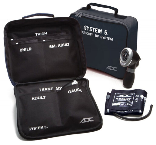 ADC<sup>&reg;</sup> System 5<sup>™</sup> Multicuff Blood Pressure Kit, Latex-free, Navy