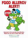 StopGator Food Allergy Alert Poster