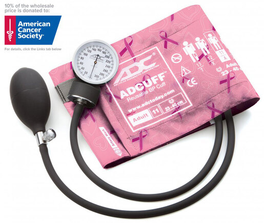 ADC<sup>&reg;</sup> Prosphyg<sup>™</sup> 760 Pocket Blood Pressure Cuff/Aneroid Sphyg, Breast Cancer Awareness Edition, Adult