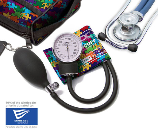 ADC<sup>®</sup> Pro's Combo II<sup>™</sup> SR Pocket Blood Pressure Kit, Puzzle Pieces, Child