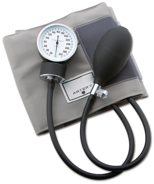 ADC<sup>®</sup> Prosphg<sup>™</sup> 770 Series Blood Pressure Cuff, Latex-free, Adult, Gray Cotton