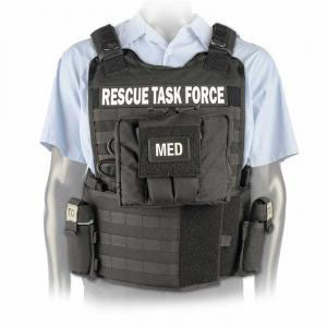 North American Rescue Task Force Vest Kit with Side Armor and Supplies, Black