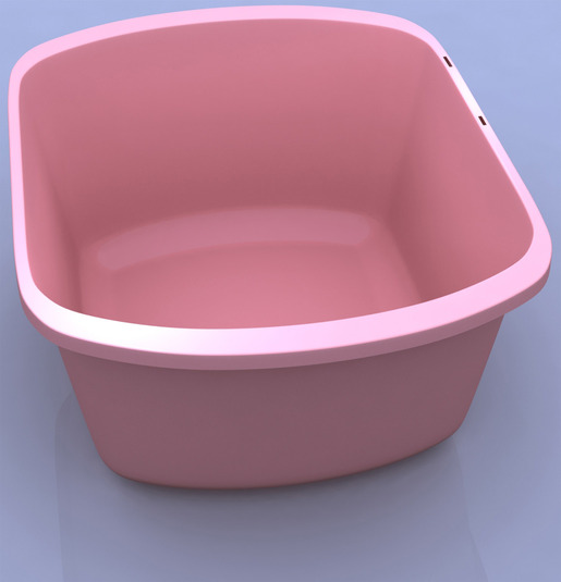 Dynarex<sup>®</sup> Rectangular Wash Basin, 7.4qt, Mauve