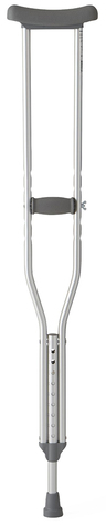 Standard Aluminum Crutches, 300lb, Youth