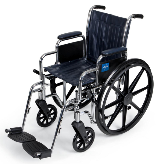 Excel Narrow Wheelchair with Removable Desk Armrest, Swinging Leg Rests