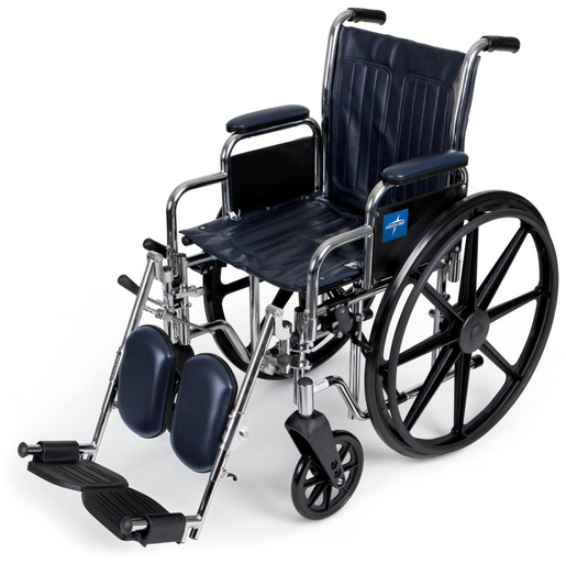 Excel Narrow Wheelchair with Removable Desk Armrest, Detachable Leg Rest