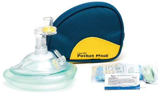 Laerdal Pocket Mask with Gloves, Wipes and Blue Soft Case