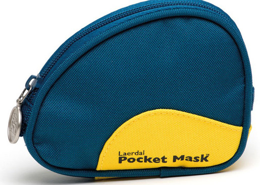 Laerdal Pocket Mask with Gloves, Wipes and Black Soft Case