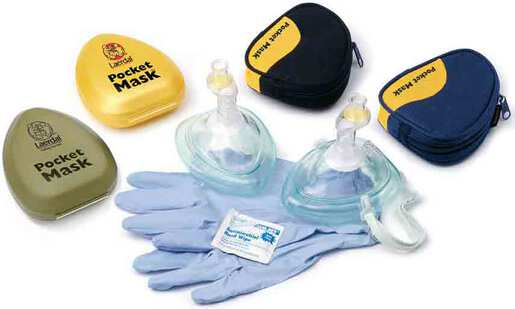 Laerdal Pocket Mask with Gloves, Wipes and O2 Inlet