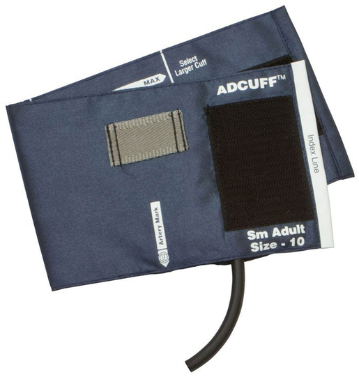 ADC Adcuff<sup>™</sup> Cuff and Bladder, 1 Tube, Latex-free, Navy, Adult, Small