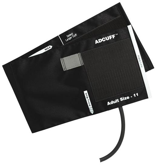ADC Adcuff<sup>™</sup> Cuff and Bladder, 1 Tube, Latex-free, Black, Adult
