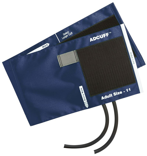 ADC<sup>&reg;</sup> Adcuff<sup>™</sup> Cuff and Bladder, 2-tube, Latex-free, Adult, Navy