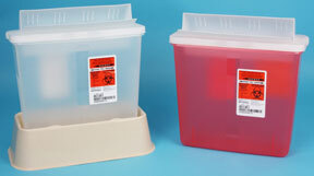 TIDI<sup>®</sup> Sage In-Room Sharps Containers with Always Open Lids, 5qt, Red