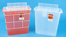 TIDI<sup>®</sup> Sage In-Room Sharps Containers with Always Open Lids, 12qt, Red