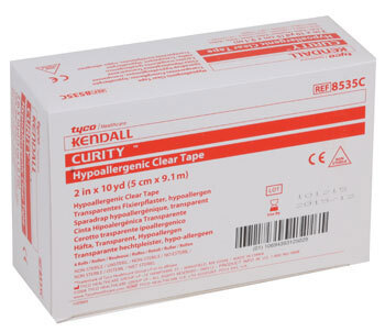 Kendall Curity<sup>™</sup> Hypoallergenic Clear Tape
