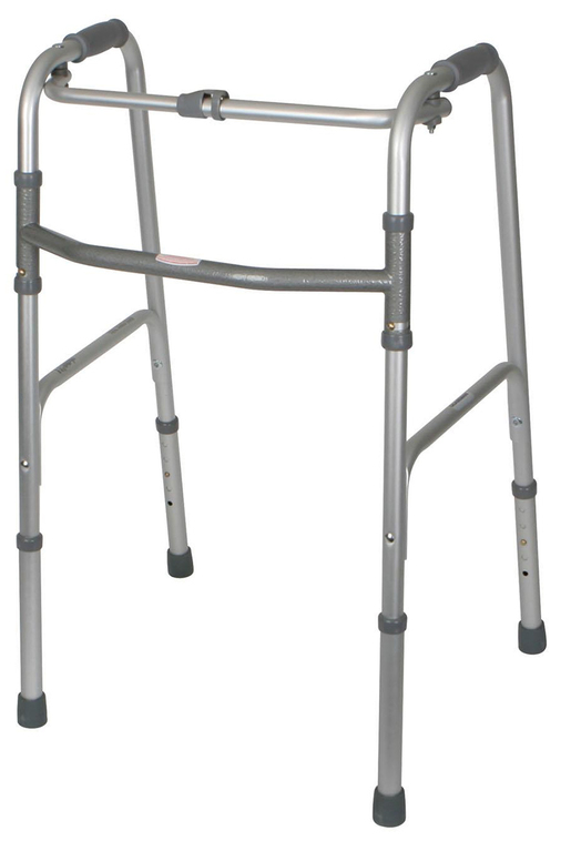 1-button Folding Aluminum Walker, Adult