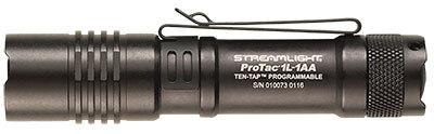 ProTac<sup>&reg;</sup> 1L-1AA Professional Tactical Flashlight, Black