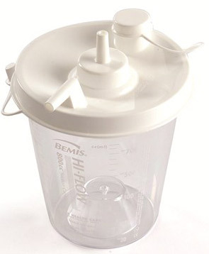 Laerdal Disposable Canister without Tubing for Laerdal Compact Suction Unit 2, 3 and 4, 800mL