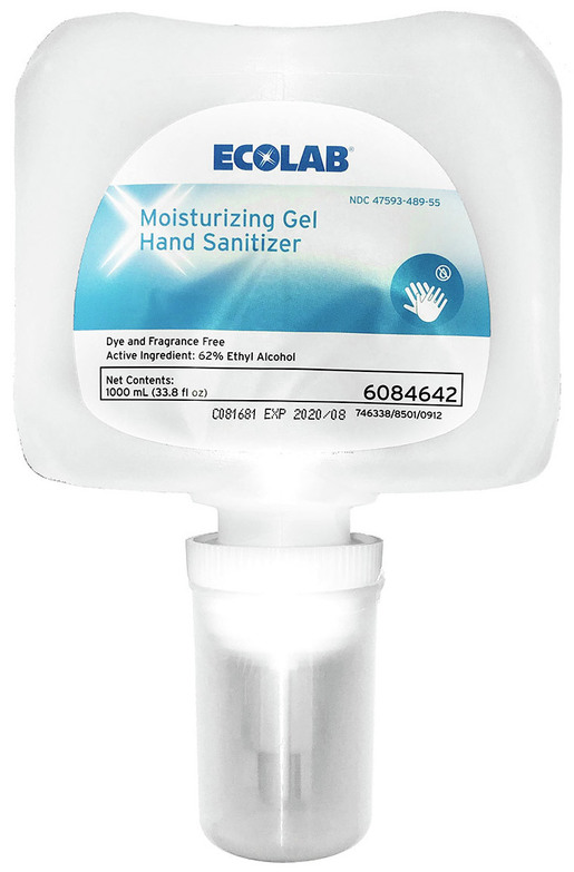 Ecolab<sup>®</sup> Moisturizing Gel Hand Sanitizer, 1000mL