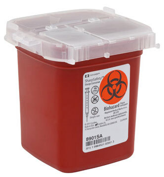 Covidien SharpSafety<sup>™</sup> Phlebotomy Sharps Container, Red, 1pt