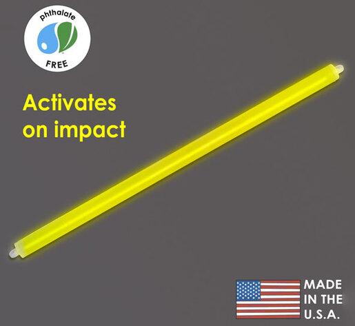 "Cyalume 15"" Impact<sup>®</sup> Light Sticks, 12-hour, Yellow"