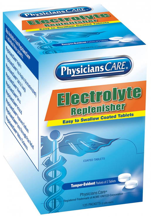 First Aid Only<sup>&reg;</sup> PhysiciansCare<sup>&reg;</sup> Electrolyte Replenisher Tablets, 125 Packets