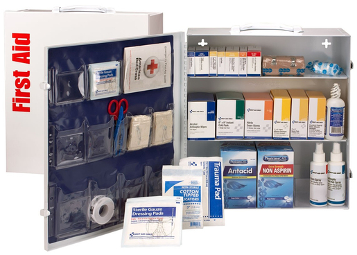 First Aid Only<sup>&reg;</sup> ANSI A+ First Aid Cabinet, Metal, 100 Person