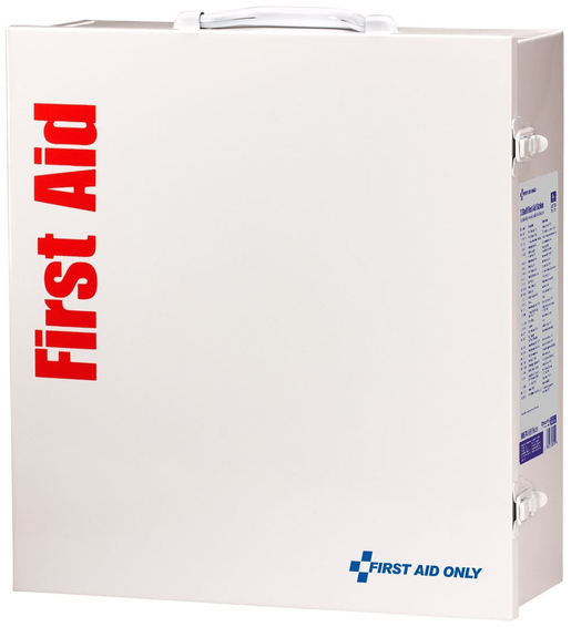 First Aid Only<sup>®</sup> ANSI A+ First Aid Cabinet, Metal, 100 Person