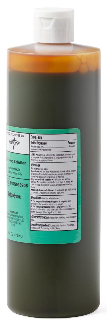 Aplicare Povidone Iodine Solution, 16oz Bottle