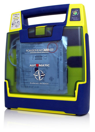 Cardiac Science Powerheart<sup>&reg;</sup> AED G3, Recertified, Fully Automatic with RescueCoach