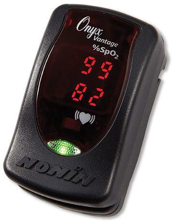 Curaplex<sup>®</sup> Nonin Onyx<sup>®</sup> Vantage 9590 Finger Pulse Oximeter, Black