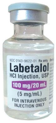 Labetalol HCL Injection, USP, 100mg, 20mL Vial