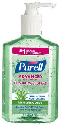 Purell<sup>®</sup> Instant Hand Sanitizer with Aloe, 8oz Pump Bottle