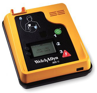 Welch Allyn<sup>®</sup> AED 10 Defibrillator with Pre-attached Pads