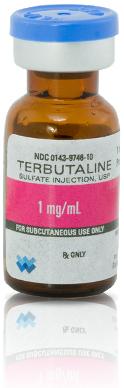 Terbutaline Sulfate Injection, 1mg/mL, 1mL Vial