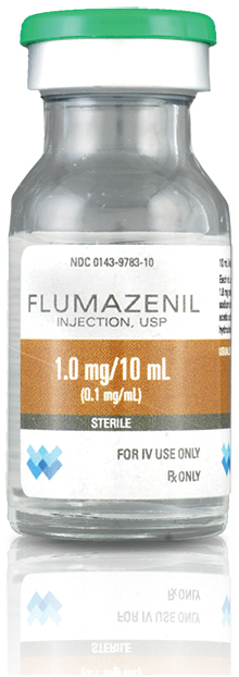 Flumazenil (Romazicon) Injection, USP, 1mg/10mL, 10mL Vial