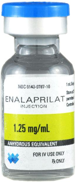 Enalaprilat Injection, USP, 1.25mg/mL, 1mL Vial