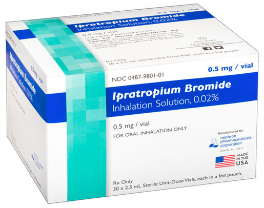 Ipratropium Bromide Inhalation Solution 0.02%, 1/2mg/2 1/2mL
