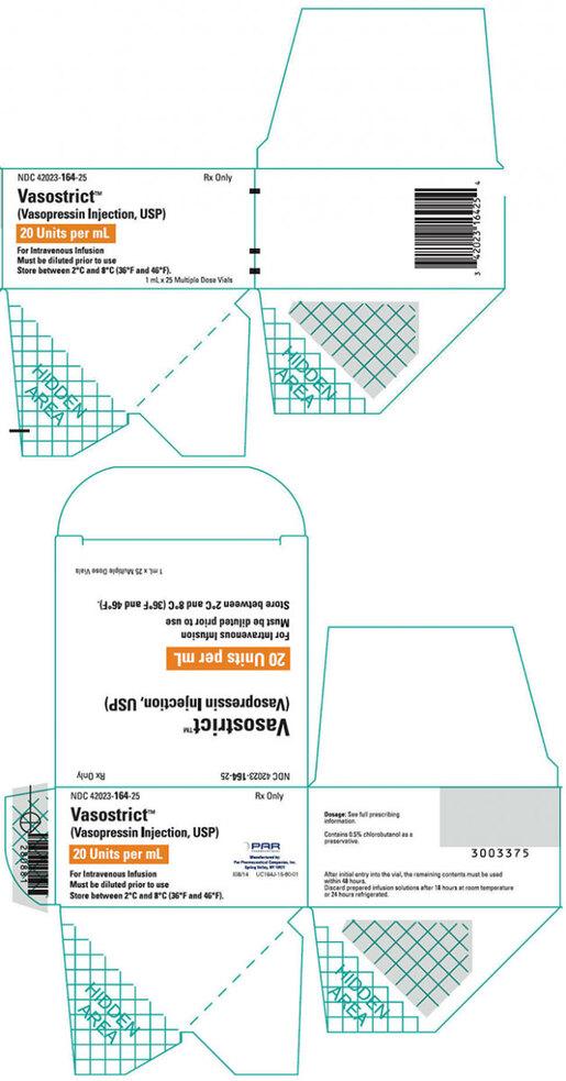 Vasostrict<sup>™</sup> Vasopressin Injection, USP, 20 Units/mL, 1mL Vial