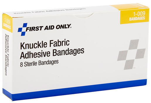 First Aid Only<sup>®</sup> Adhesive Bandages, Fabric, Knuckle