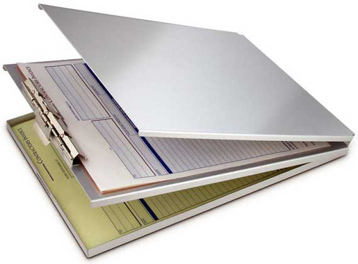 Saunders Recycled Aluminum Antimicrobial A-Holder Clipboard