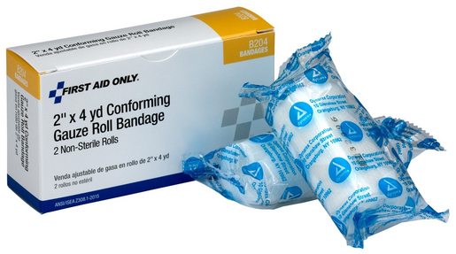 "First Aid Only Conform Gauze Roll Bandage, 2"" x 4.1yd"