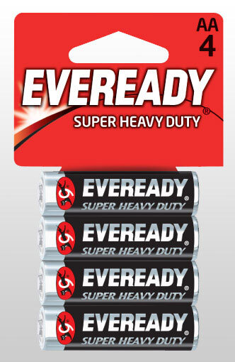 Eveready<sup>®</sup> Super Heavy Duty Batteries