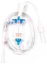 Biomedix Selec-3 Multiple Drop IV Set with 1 Needleless Y-site and Luer-activated Y-Site, 81.75""